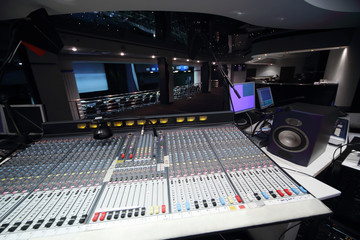 Equipment for management of sound system in large concert hall.