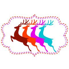 Векторная иллюстрация олени