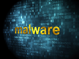 Security concept: Malware on digital background