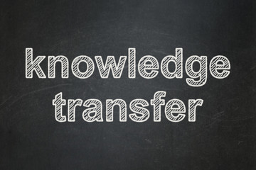 Education concept: Knowledge Transfer on chalkboard background