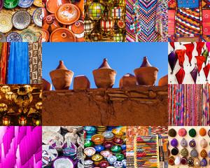 Collage mit marokkanischem Kunsthandwerk