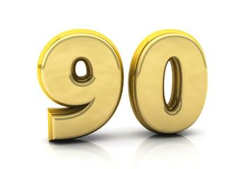 3d number ninety