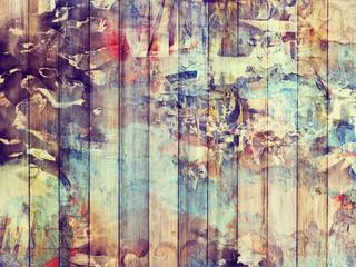 Fond planches de bois vintage