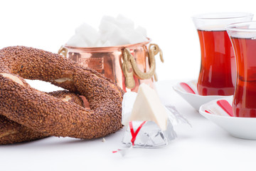 Turkish Tea and Bagel