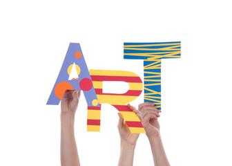 People Holding Art