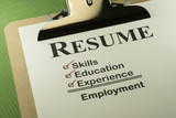 Successful Employment Concept With Resume Checklist poster