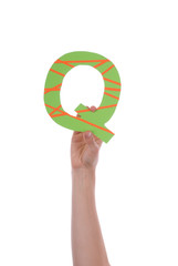 Person Holding Q