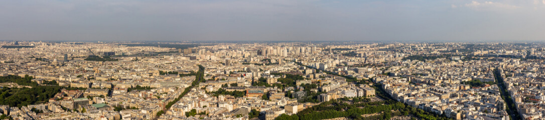 Panorama of Paris from Maine-Montparnasse Tower - France