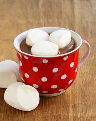 hot cocoa with marshmallows, sweet dessert drink