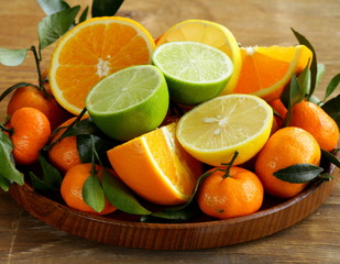 different types of citrus fruits