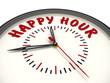 Постер, плакат: Happy hour Счастливый час Часы с надписью