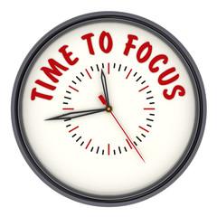 Time to focus (Время сконцентрироваться). Часы с надписью