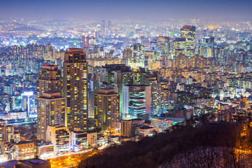 Seoul Financial District Cityscape