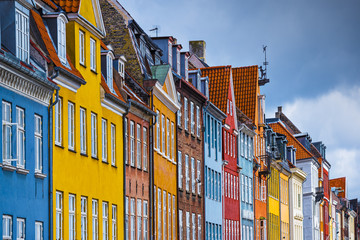 Nyhavn, Copenhagen, Denmark Colorful Buildings