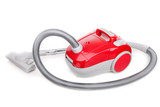 Vacuum cleaner for modern house cleaning. On a white background.
