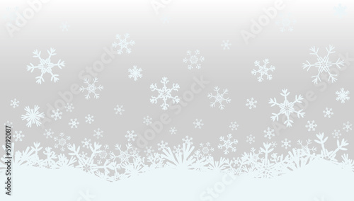 Winter Christmas banner, vector illustration