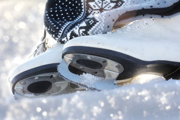 Schlittschuhlaufen - ein beliebter Wintersport