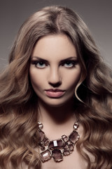 Fashion Portrait Of Luxury Woman With Jewelry.