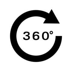 360 Grad Drehung Vektor