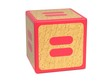 Equal Sign - Childrens Alphabet Block.