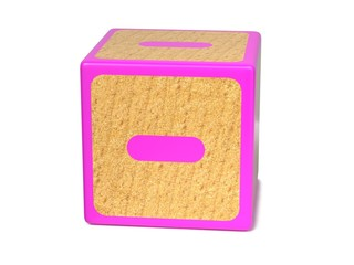 Minus Sign - Childrens Alphabet Block.