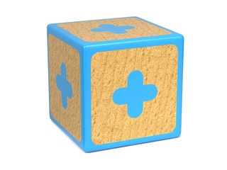 Plus Sign - Childrens Alphabet Block.