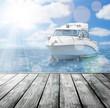 boat and wooden platform