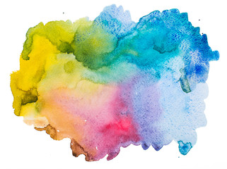 Watercolour abstract background