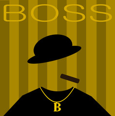 mob boss with cigar and gold chain