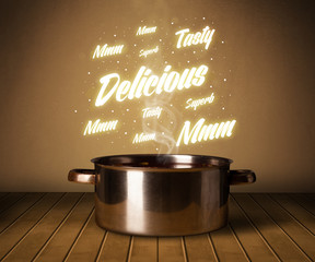 Bright comments above cooking pot