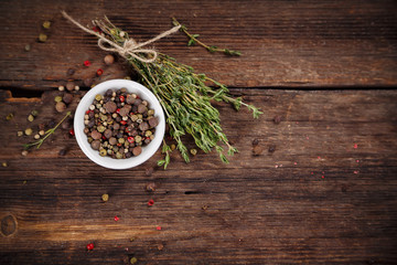 Pepper and thyme