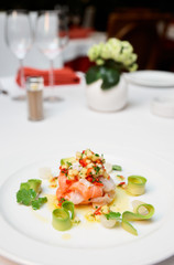 Ceviche of seabass and salmon
