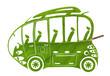 Green Euro bus - 59196247