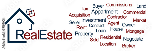 Real Estate Blue Red Horizontal
