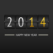 Happy new year 2014 card. Mechanical timetable