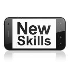Education concept: New Skills on smartphone