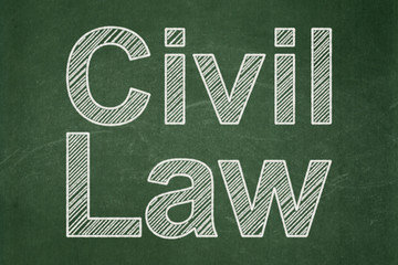 Law concept: Civil Law on chalkboard background