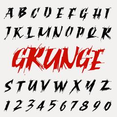 vector grunge font set