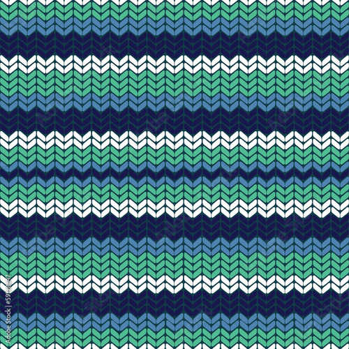 Seamless vector pattern with blue stripes