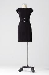 full-length bright elegant dress on a mannequin