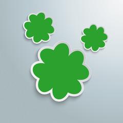 3 Green Shamrocks