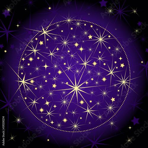 Christmas dark violet ball
