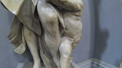 NAPLES, ITALY - San Paolo Maggiore Sculpture