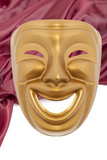Golden  comedy theatrical mask