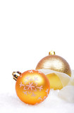 Christmas background with balls isolated on the white background