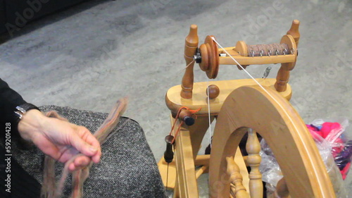 Lady Spinning New Yarn