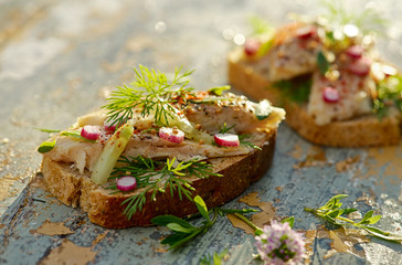 Canape with fish