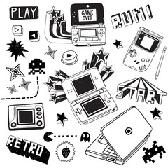 Retro Game Doodles