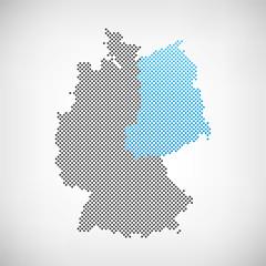 Karte Ostdeutschland
