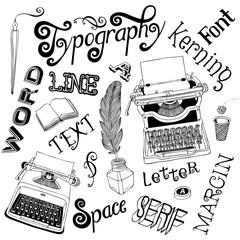 Retro Typography Doodles